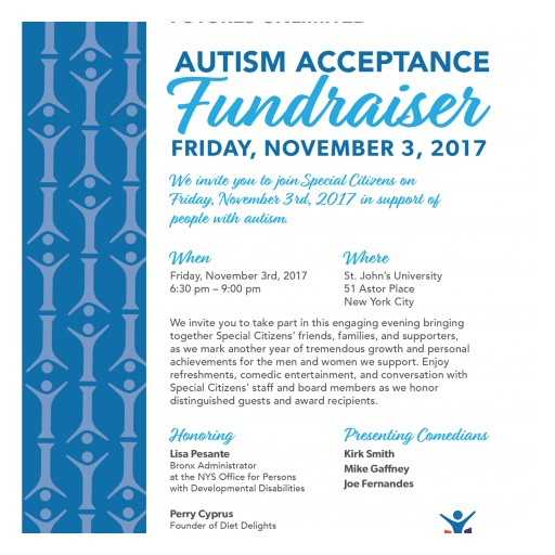 Autism Organization to Hold Autism Acceptance Fundraiser on November 3, 2017 With Comedy Performance by Kirk Smith, Mike Gaffney, and Joe Fernandes